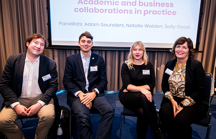 Left to right: Adam Saunders, SKOPE Research Centre, University of Oxford; Dr Natalie Welden, University of Glasgow; Adam Root, Inheriting Earth Limited; Sally Good, Evidence to Impact